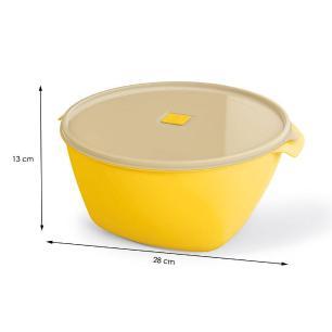 Pote Premium 4 Litros Sólido De Plástico Amarelo - Uz