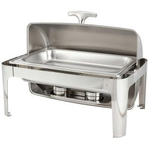 Rechaud Chafing Dish Retangular Tampa Basculante 9 Litros - Brasinox
