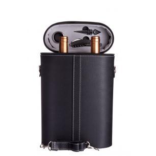 Porta Vinho Black 4 Peças - Mimo Style - Preto