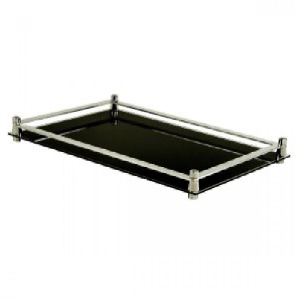 Bandeja Para Lavabo Espelho Preto 27X16cm - DesignGabi - PRETO