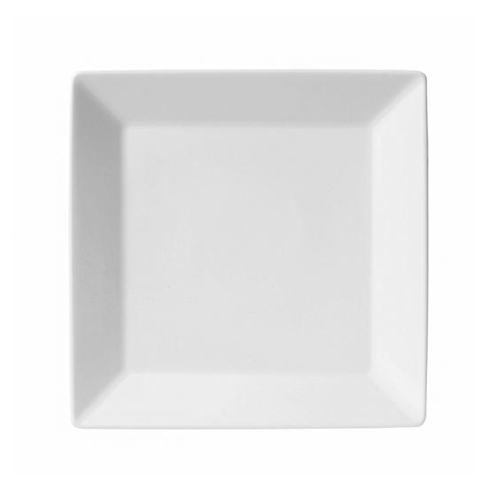 Kit com 6 Pratos para Sobremesa Quartier White 20cm Branco - Oxford