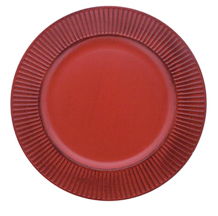 Kit com 6 Sousplat Listras Vermelho - Mimo Style