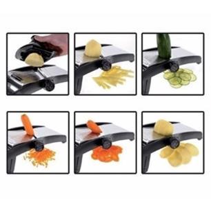 Ralador Fatiador Inox com 5 Opções de Corte (Mandoline)