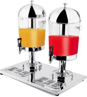 Suqueira Dupla Inox 16 Litros Dispensador de Bebida - Brasinox