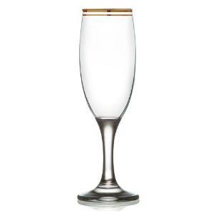 Jogo de Taças de Champagne  6 Peças Atlântica 190ml  - Mimo