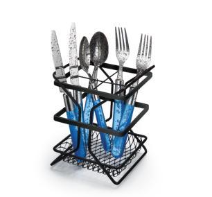 Porta Talheres Cutlery Rack Piatina Black - Arthi