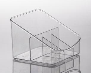 Organizador Multiuso De Acrilico Transparente Diamond Com 4 divisórias