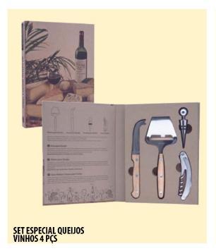 Kit Especial Para Queijo e Vinho 4 Peças