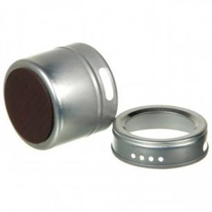 Porta Condimentos em Inox com Base Magnetica e 3 Unidades