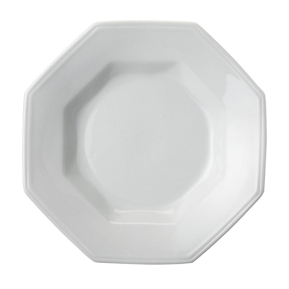 Prato Fundo de Porcelana Schmidt Prisma 24cm Branco