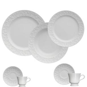 Aparelho de Jantar Tassel 42 Peças Branco - Germer