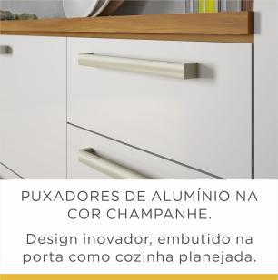 Paneleiro de Cozinha Burguesa 4 Portas 70 cm - Freijo/Branco - Nesher