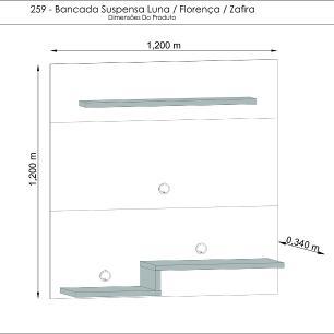 Bancada Suspenso Luna - Savana - Madetec