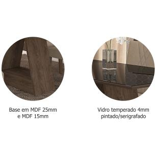 Mesa Alana 180cm x 90cm - Marrocos/Preto - Cimol