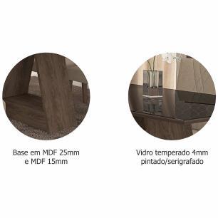 Sala Jantar Alana 130 Cm x 80 Com 4 Cadeiras Milena Marrocos/Preto/Chocolate - Cimol