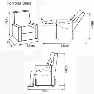 Poltrona Reclinavel Stela Tecido Suede 10062 - Marrom - Delare
