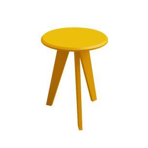 Mesa Apoio Ellis - Amarelo - Artely