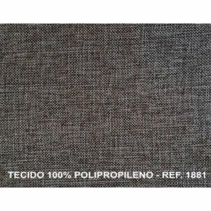 Poltrona Reclinavel Stela Tecido Polipropileno 1881 - Cinza Fuligem - Delare