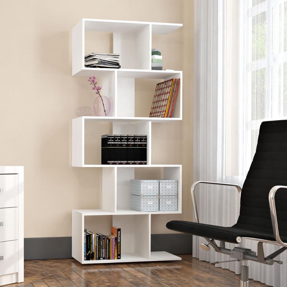 Estante Livreiro Com 5 Nichos Office Plus - Branco - Appunto