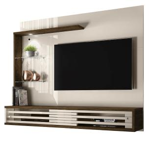 Painel Para TV Frizz Select - Off White/Savana - Madetec