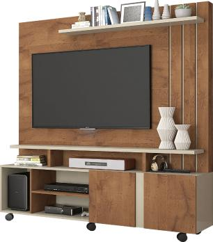 Estante Home Theater Valencia Savana/Off White - Permobili