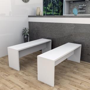 Banco Para Mesa De Jantar Liv - Branco - Appunto