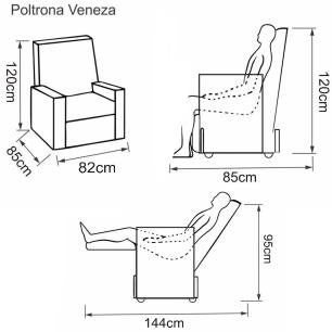 Poltrona Reclinavel Veneza - Courino Marrom 434 - Delare