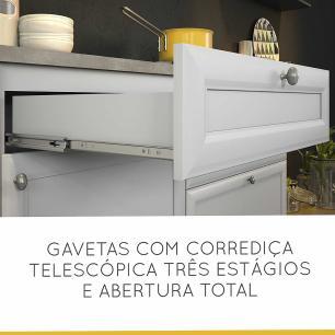 Cozinha Compacta Americana 1 - Branco - Nesher