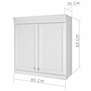 Armario de Cozinha 2 Portas Nesher Americana 80 cm - Branco - Nesher