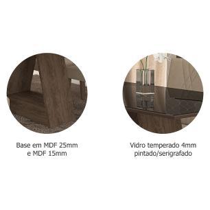 Sala Jantar Alana 130cm x 80cm 4 Cad. Nicole Marrocos/Preto/Caramelo - Cimol