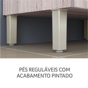 Balcão de cozinha Gold 1 Porta 1 gaveta 80 cm - Amadeirado - Nesher
