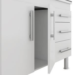 Balcao De Cozinha 100% Mdf Flex 154 Cm Branco/Carvalho - Mgm