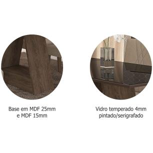Mesa Alana 130cm x 80cm - Marrocos/Preto - Cimol