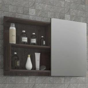 Espelheira para Banheiro 100% MDF Lis 80 Cm Café - Mgm