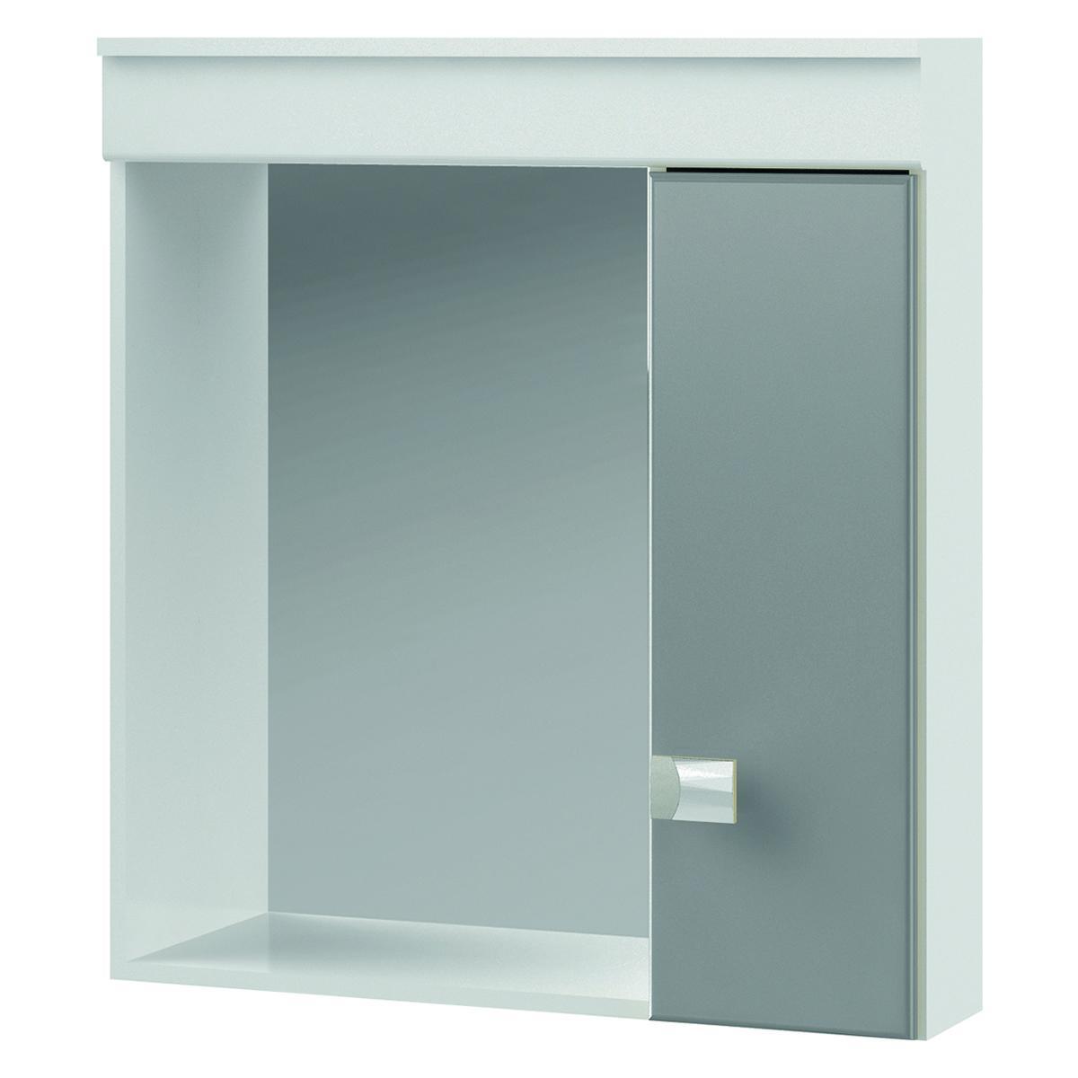 Espelheira para banheiro Elegance Branco/Cinza Grey - Mgm