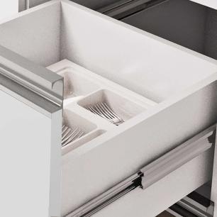 Balcao De Cozinha 100% Mdf Prisma Para Pia 194 Cm Branco/Café - Mgm
