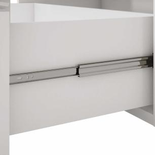 Balcao De Cozinha 100% Mdf Flex 194 Cm Branco/Preto - Mgm