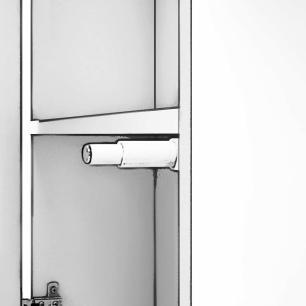 Espelheira para Banheiro 100% MDF Treviso 56 Cm Amendoa - Mgm