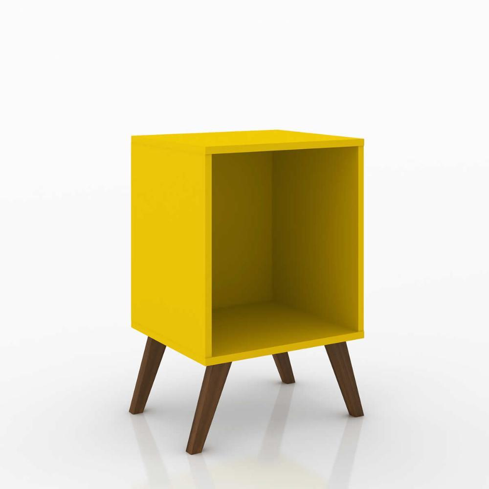 Cubo Retro Sem Porta - Amarelo - Movelbento