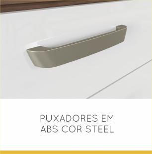 Armário de Cozinha Condessa 1 Portas 200 cm - Nogal/Branco - Nesher