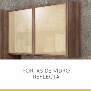 Cozinha Compacta Donna 2 - Nogal/Branco - Nesher