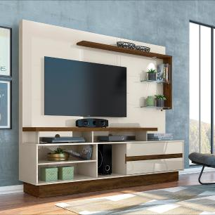 Home Theater Vicente - Off White/Savana - Madetec