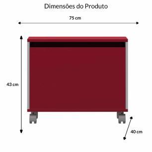 Bau Multiuso M - Vermelho - Primolar