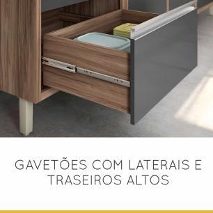 Cozinha Compacta Baronesa 2 - Grafite - Nesher