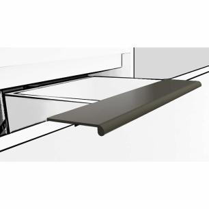 Gabinete De Banheiro 100% Mdf Azaleia 79 Cm Porta Vidro Amendoa/Off White - Mgm
