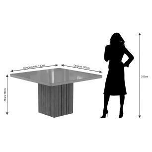 Mesa Ana 130cm x 130cm - Savana/Off White - Cimol