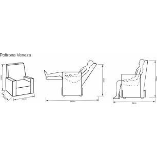 Poltrona Reclinável Veneza - Tecido Veludo Austin Caramelo 1187 - Delare