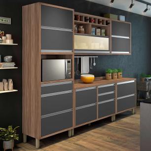 Cozinha Compacta Baronesa 1 - Grafite - Nesher