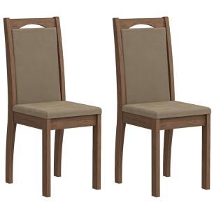 Sala Jantar Barbara 136 Cm x 80 Cm Com 6 Cadeiras Livia Savana/Sued Marfim - Cimol