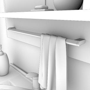 Gabinete De Banheiro 100% Mdf Tulipa 59 Cm Com Espelho Carvalho/Off White - Mgm